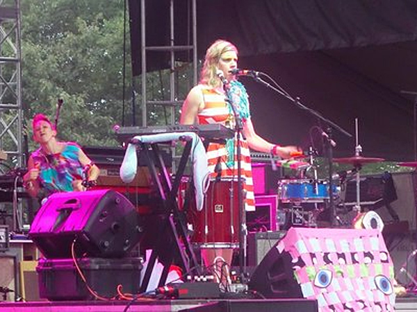 Tune-Yards at the Firefly Music Festival on Saturday. (Dan DeLuca)