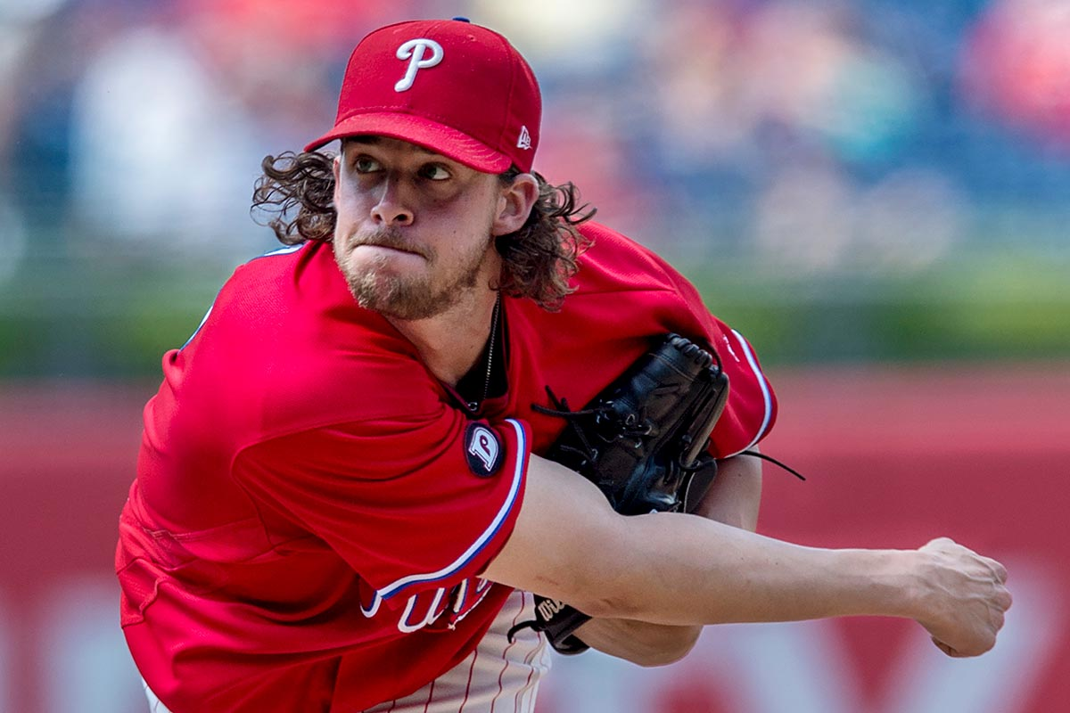 Phillies starting pitcher Aaron Nola.