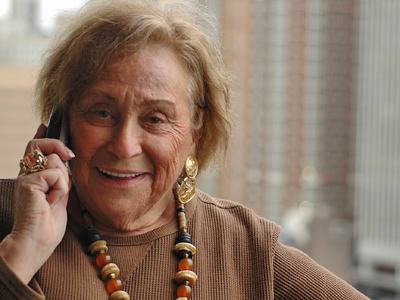 Gladys Cooper, who lives in Center City, estimates that she received 30 or 40 political robocalls before the primary election in May. She wasn't as happy about them as she looks. She hung up on most. (James Heaney / Staff Photographer)<br />