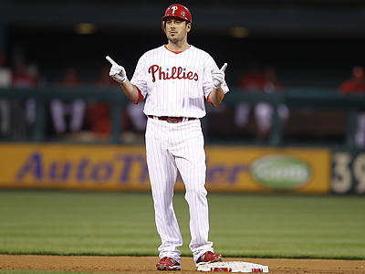 Greg Dobbs has cleared waivers and will accept a minor league assignment. (AP Photo/Matt Slocum)