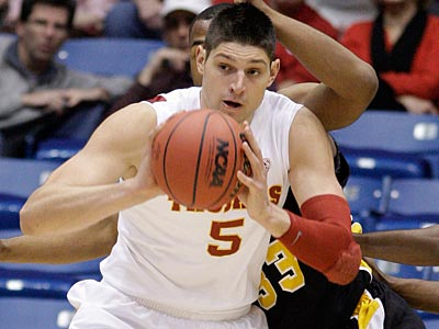 Nikola Vucevic was selected by the Sixers in the first round of the NBA Draft. (AP Photo)