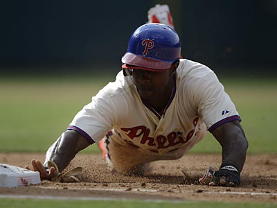 Juan Pierre is batting .328 this season and has 16 stolen bases for the Phillies. (Matt Slocum/AP)