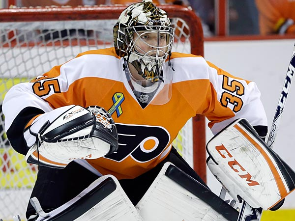 Philadelphia Flyers´ Steve Mason. (AP Photo/Matt Slocum)