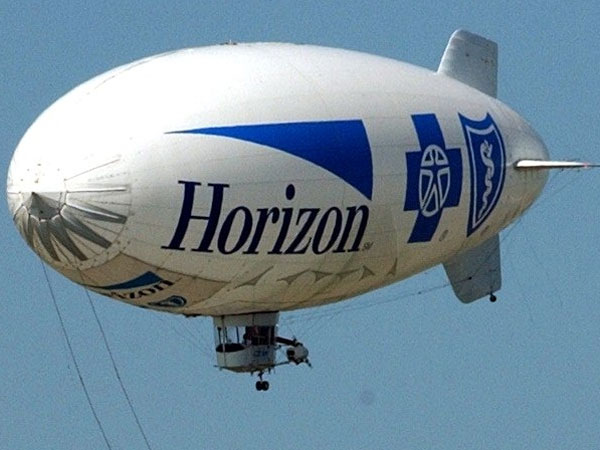 The Horizon blimp over Atlantic City. (Michael Plunkett / Inquirer file photo)