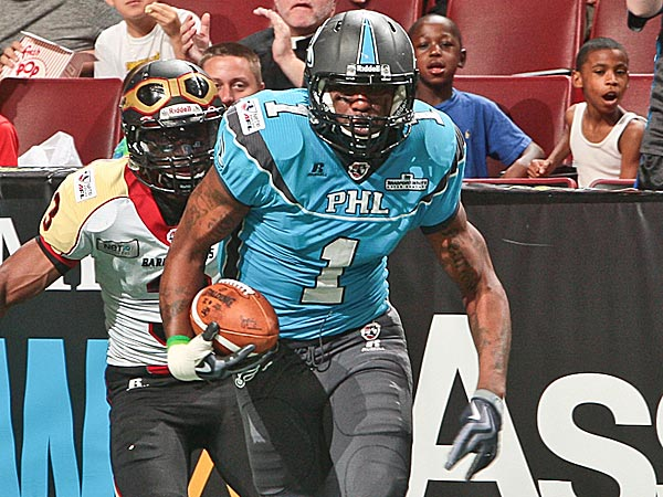 Philadelphia Soul wide receiver Larry Brackins. (Photo via Philadelphia Soul)