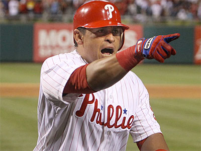Phillies catcher Carlos Ruiz leads the majors with a .361 batting average. (Ron Cortes / Staff Photographer)