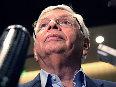 NBA Commissioner David Stern listens to a reporter´s question after Tuesday´s NBA owners meeting in Dallas. (LM Otero/AP)