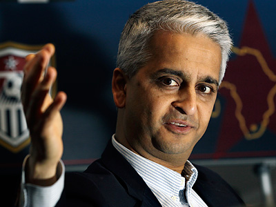 U.S. Soccer Federation president Sunil Gulati has some big issues to think about. (Elise Amendola/AP)
