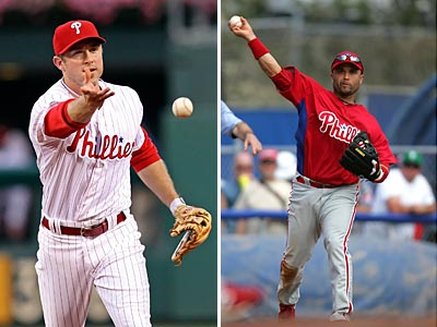 The Phillies placed both Chase Utley and Placido Polanco on the disabled list today. (Staff file photos)