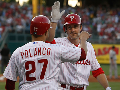 Chase Utley and Placido Polanco have been placed on the DL. (Ron Cortes / Staff Photographer)