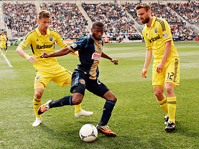 Raymon Gaddis is the only player on the Union´s roster who makes the MLS minimum salary. (Tom Mihalek/AP)