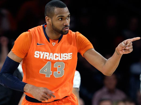 Former Syracuse player James Southerland during a game against Louisville back on March 16. (Frank Franklin II/AP file)
