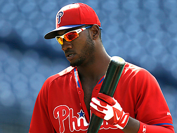 Phillies left fielder Domonic Brown. (Laurence Kesterson/AP)