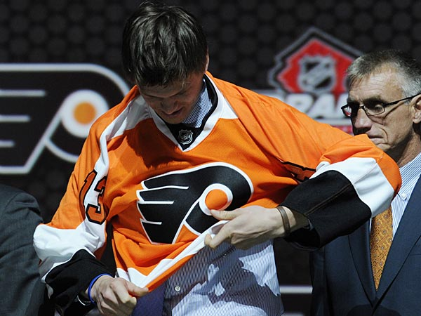 The Flyers drafted defenseman Samuel Morin with the 11th overall pick in the 2013 NHL Draft. (Bill Kostroun/AP)