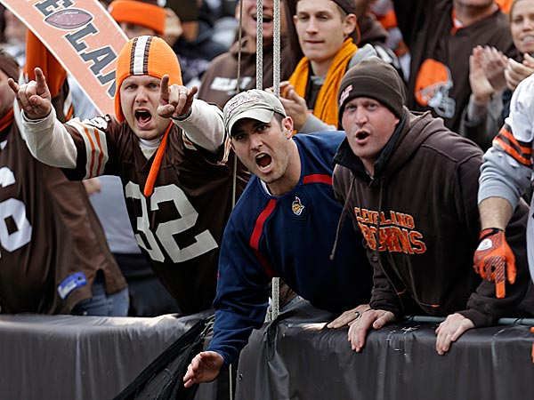 Browns fans, enjoying their annual moment of enthusiasm. (AP Photo/Tony Dejak)