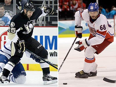 The Flyers signed two former Penguins in Maxime Talbot (left) and Jaromir Jagr. (AP Photos)