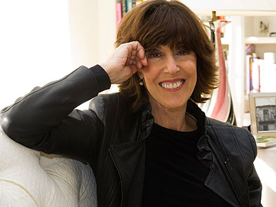 This Nov. 3, 2010 file photo shows author, screenwriter and director Nora Ephron at her home in New York. Ephron died Tuesday of leukemia in New York. She was 71. (AP Photo / Charles Sykes, file)