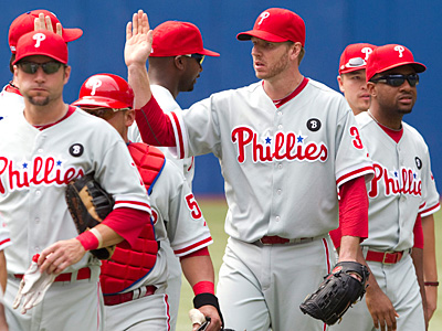 Phillies pitcher Roy Halladay leads the league in innings pitched. (Darren Calabrese/AP, The Canadian Press)