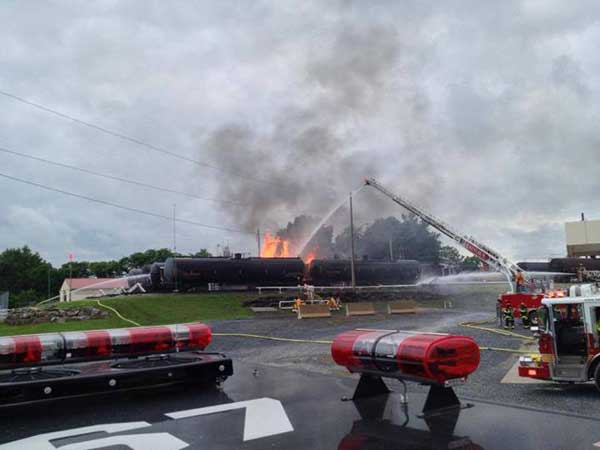 A freight railcar caught on fire outside of Lancaster, Pa., on July 2, 2013. (Photo courtesy of Rohrerstown Engine Company 67)
