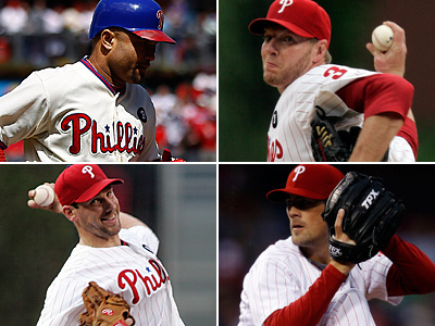 Placido Polanco, Roy Halladay, Cliff Lee, and Cole Hamels have been selected to the 2011 All-Star Game. (AP Photos)