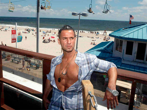 """Jersey Shore"" cast member Mike ""The Situation"" Sorrentino, with the set in the background.PHOTOS: ASSOCIATED PRESS"