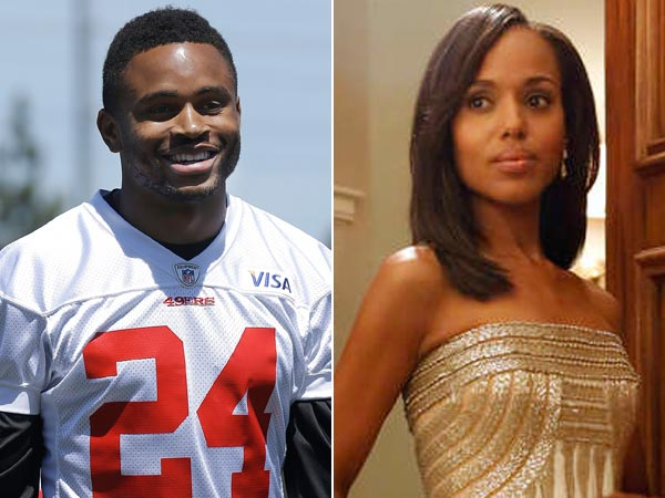 "Former Eagles cornerback Nnamdi Asomugha is set to marry Kerry Washington of the hit show ""Scandal."" (Jeff Chiu/AP)"