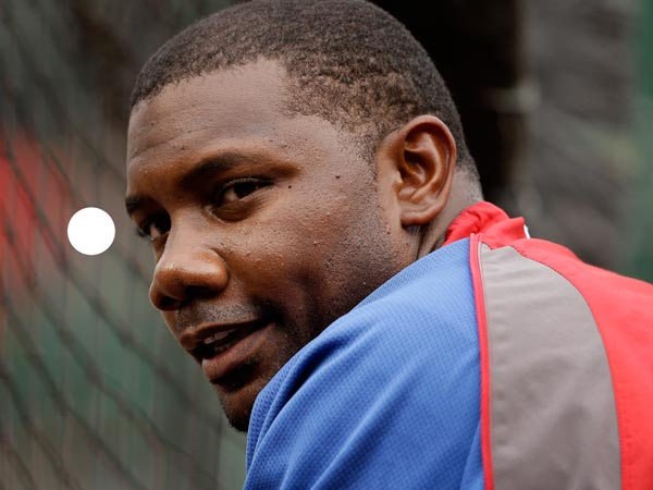 Ryan Howard waits his turn in the batting cage before a baseball game against the Pittsburgh Pirates in Pittsburgh Wednesday, July 3, 2013. (Gene J. Puskar/AP)