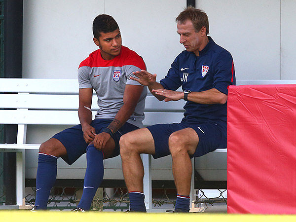 DeAndre Yedlin (left) could become a stalwart for the U.S. under Jurgen Klinsmann (right).