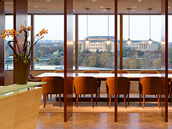 The view from Brandywine Global´s Philadelphia at the Cira Centre frames the Philadelphia Museum of Art. (Photo from brandywineglobal.com)