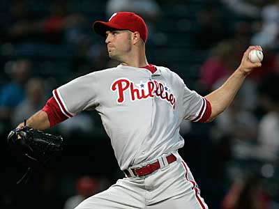 Philadelphia Phillies pitcher J.A. Happ is looking to regain his spot in the Phillies&acute; crowded pitching rotation. (AP Photo/Kathy Willens)<br />