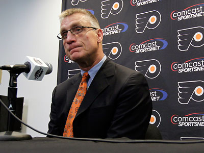 """I really like our team,"" Flyers general manager Paul Holmgren said. (Alex Brandon/AP)"