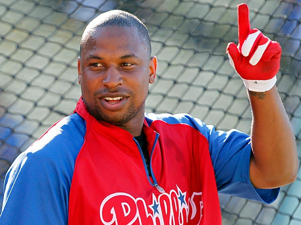 Delmon Young admits his biggest problem is that the Phillies often are playing other teams.  (AP Photo/Alex Gallardo)