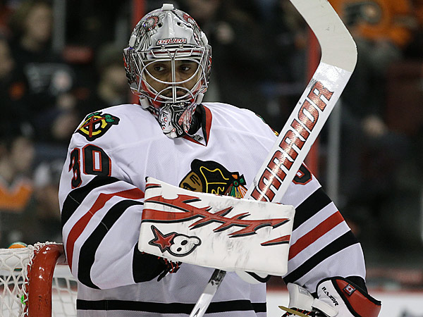 Ray Emery returns to the Flyers after signing a one-year deal. (AP Photo/Matt Slocum)