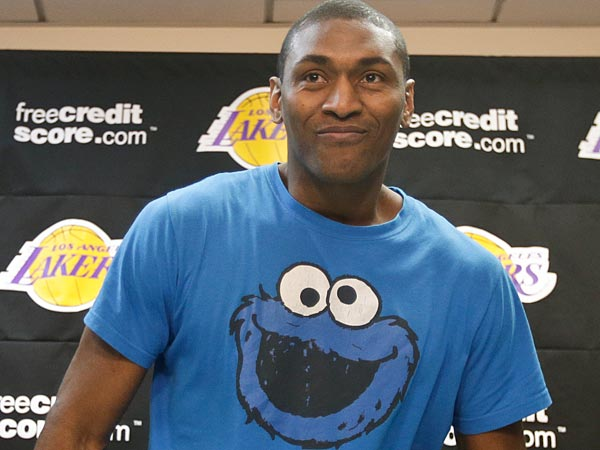 Sounds delicious, Metta World Peace. (AP Photo/Chris Carlson)