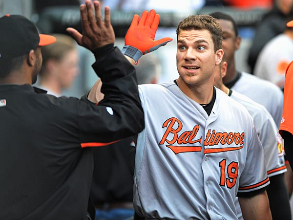 Chris Davis has earned the majority of his high-fives. (AP Photo/Paul Beaty)