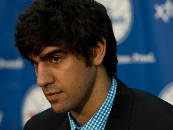 Arsalan Kazemi at the Philadelphia Sixers 2013 draft picks at press<br />conference at PCOM in Philadelphia on Friday afternoon June 28, 2013. (Alejandro A. Alvarez/Staff Photographer)