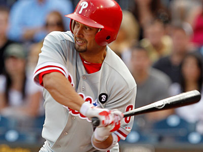Shane Victorino was selected by fans as the National League´s final player in the 2011 MLB All-Star Game. (AP Photo/Gene J. Puskar)