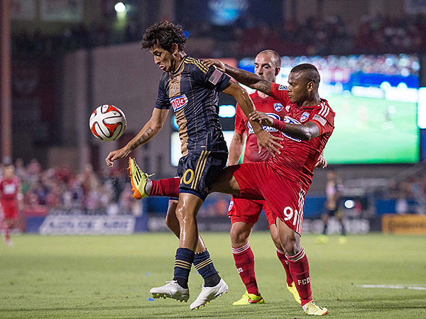 FC Dallas beat the Union in their league meeting at Toyota Stadium on July 4. (Jerome Miron/USA Today Sports)