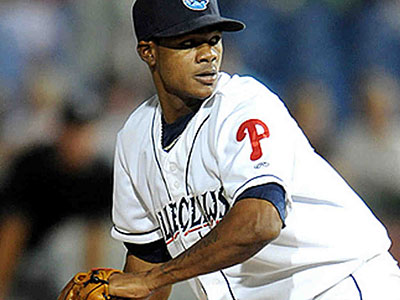 After spending 2011 in Lakewood, Lisalverto Bonilla has been pitching at double-A Reading this year. (File photo)