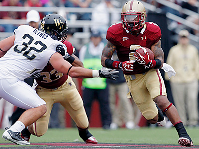 Montel Harris is Boston College´s career rushing leader. (AP Photo)
