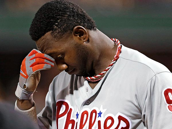 Philadelphia Phillies´ Domonic Brown.  (AP Photo/Gene J. Puskar)