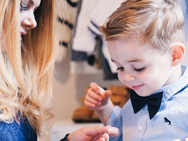 Jess Dempsey, the fashion blogger behind the blog What Would Karl Do, has linked with jeweler Claire Aristides and accessory shop The Dark Horse to create a capsule collection of made-to-order baby jewelry. (via Instagram)