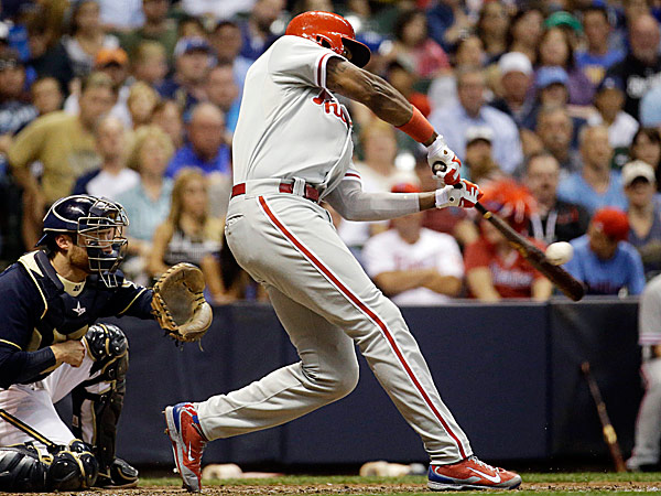 Phillies left fielder Domonic Brown.