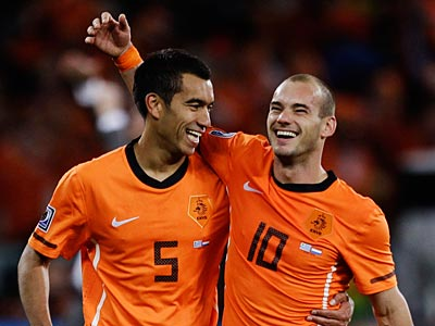 The Netherlands will play Spain in Sunday´s World Cup final. (AP Photo / Julie Jacobson)