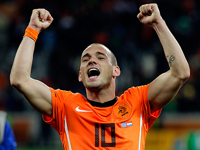 The Netherlands´ Wesley Sneijder will look to lead his squad to victory over Spain. (AP Photo/Fernando Vergara,File)