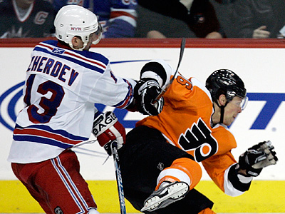 The Flyers have signed Nikolai Zherdev to a one-year deal. (AP Photo/Tom Mihalek)