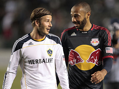 David Beckham and Thierry Henry are the most prominent names on the MLS All-Star Game First XI. (Jason Redmond/AP file photo)
