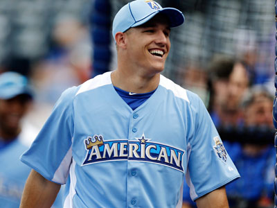 The Angel´s Mike Trout became the third youngest player to get a hit in an All-Star Game. (Jeff Roberson/AP Photo)