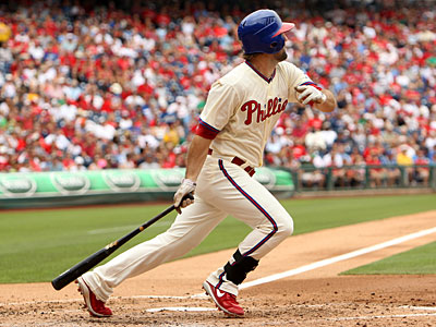 The Phillies´ Jason Pridie went 2-for-3 in Shane Victorino´s absence Sunday. (Ron Cortes/Staff Photographer)