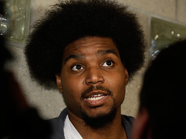Sixers center Andrew Bynum. (AP Photo/Matt Rourke, File)